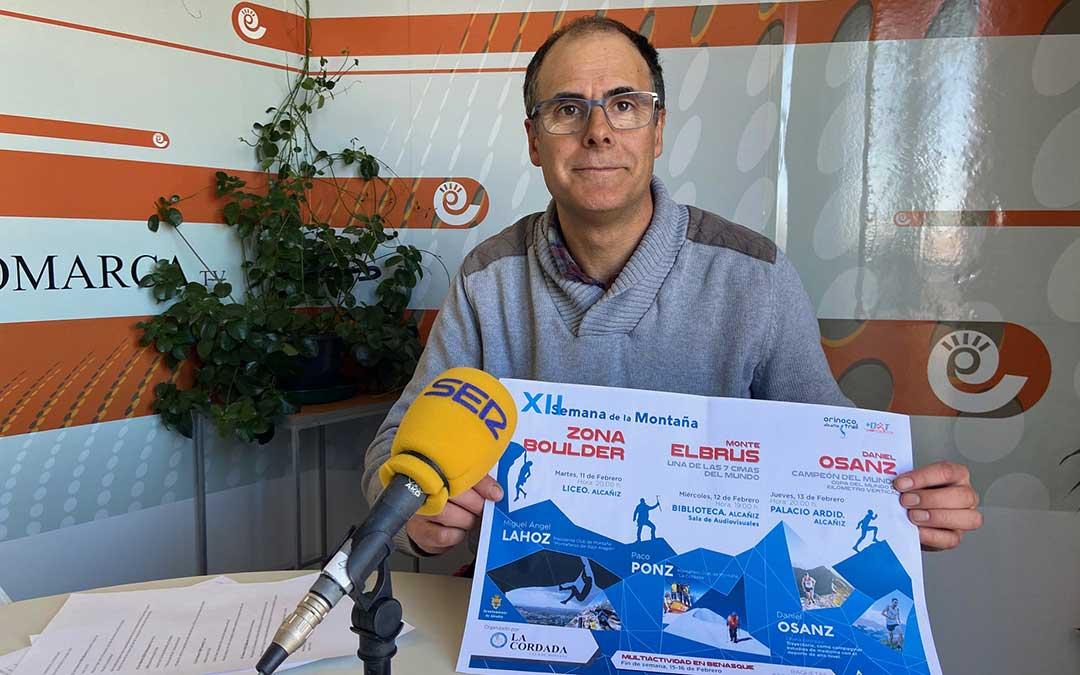 José Antonio Lahoz, presidente del Club de Montaña La Cordada./ A.M.