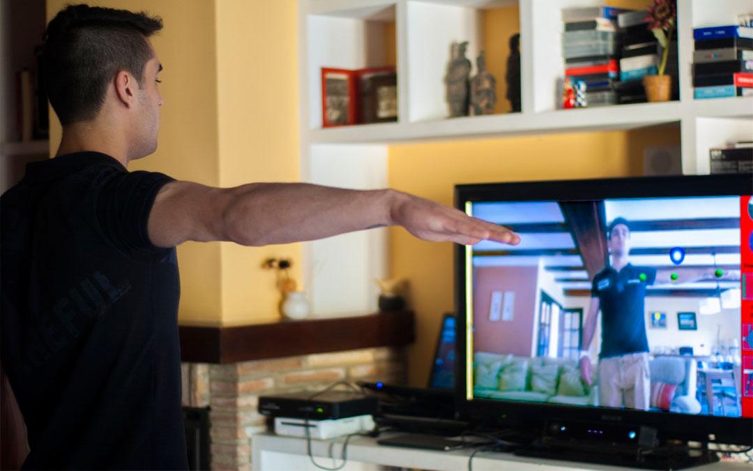 Sistema de fisioterapia virtual 'Kineactiv'./ Balneario de Ariño
