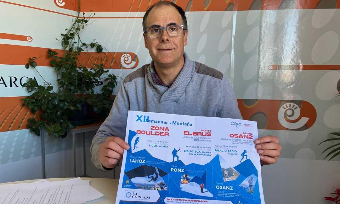 El presidente del Club de Montaña La Cordada de Alcañiz, José Antonio Lahoz