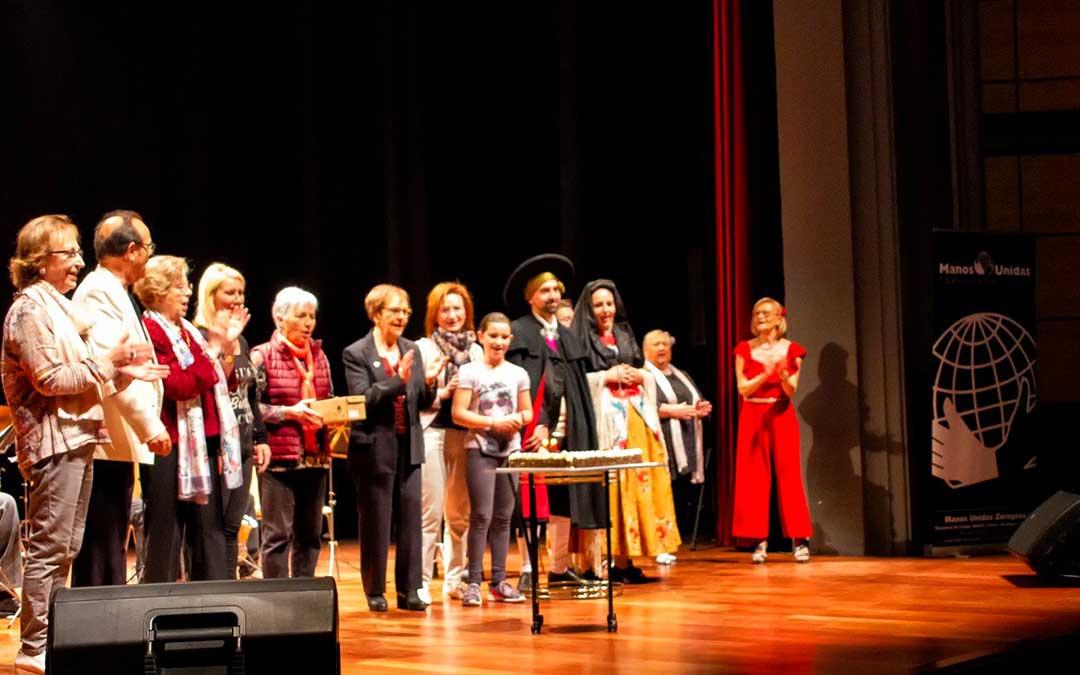 La delegación de Caspe está preparando un nuevo festival solidario para abril. En la imagen, el que se celebró el pasado año 2019. Foto: Manuel Herrero.