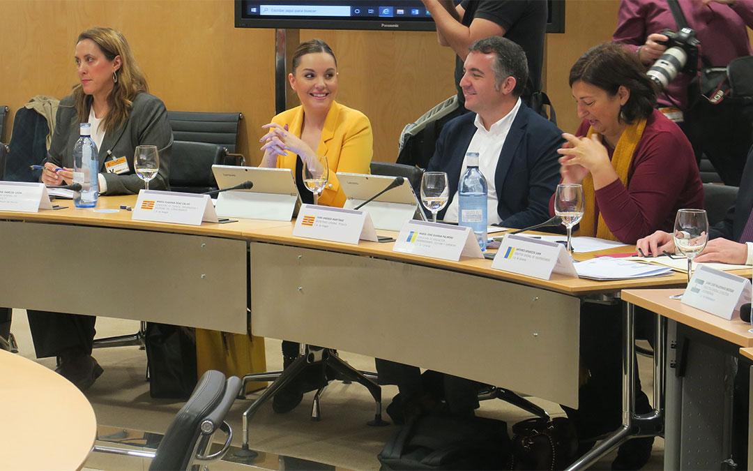 La consejera de Ciencia, Universidad y Sociedad del Conocimiento, Maru Díaz, en la Conferencia de Política Universitaria celebrada en el Ministerio de Universidades./ DGA