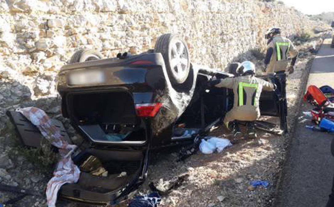 Herido grave en un accidente de tráfico en Muniesa