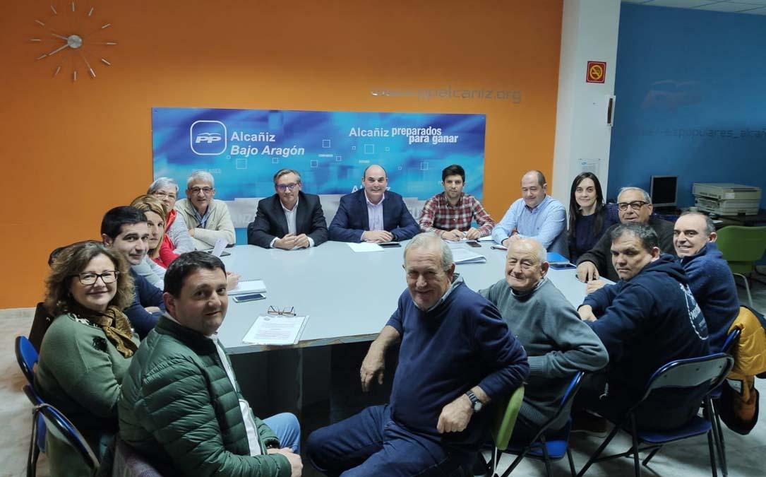 Reunión de la Junta Local del PP de Alcañiz este martes