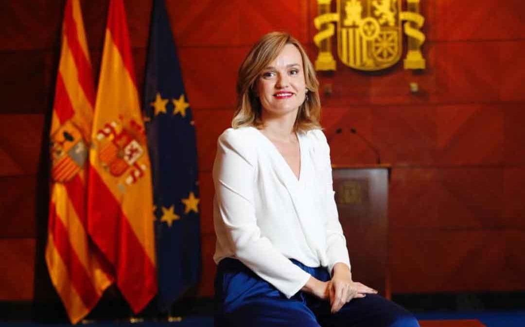 """Pilar Alegría: """"Trabajamos para que el convenio de transición justa de Andorra se firme a finales de marzo"""""""