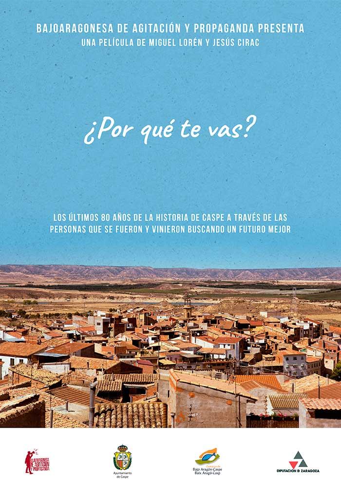 """Taller de cine Delicatessen con """"¿POR QUÉ TE VAS?"""" en Alcañiz"""
