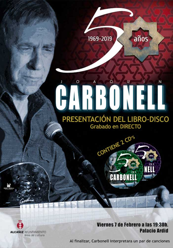 Presentacion libro-disco de Joaquin Carbonell en Alcañiz