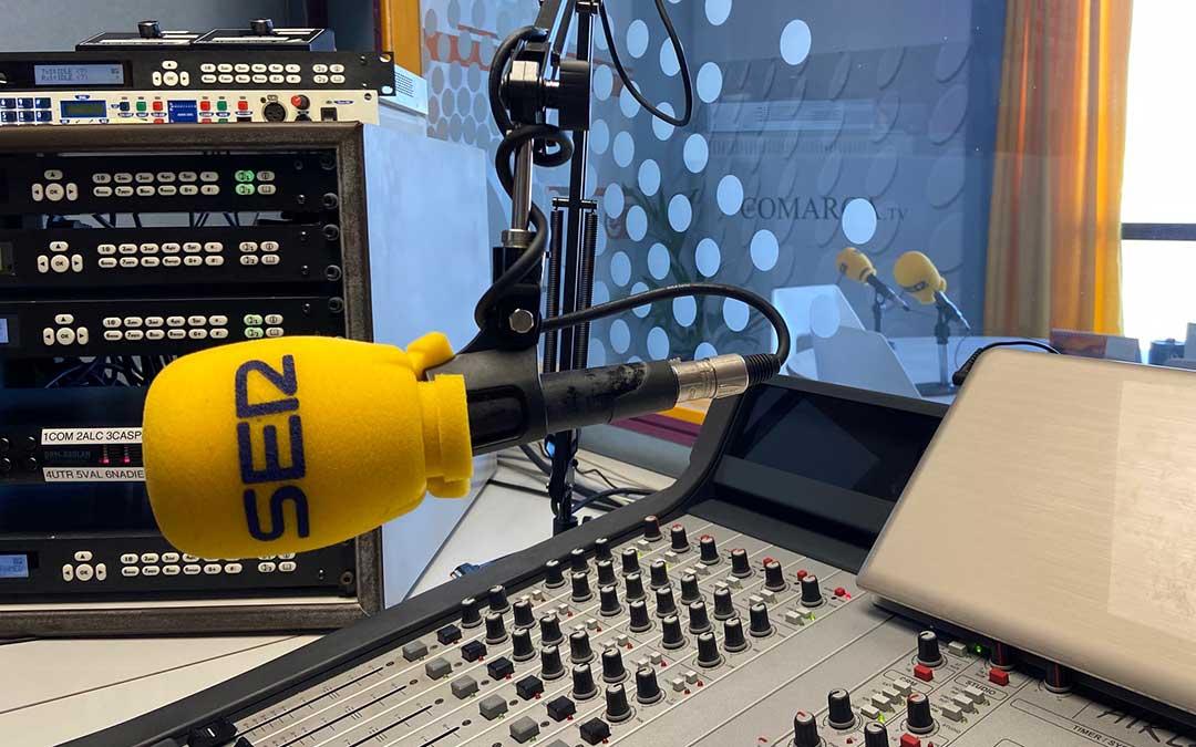 Estudio de Radio La Comarca en Alcañiz./ A.M.