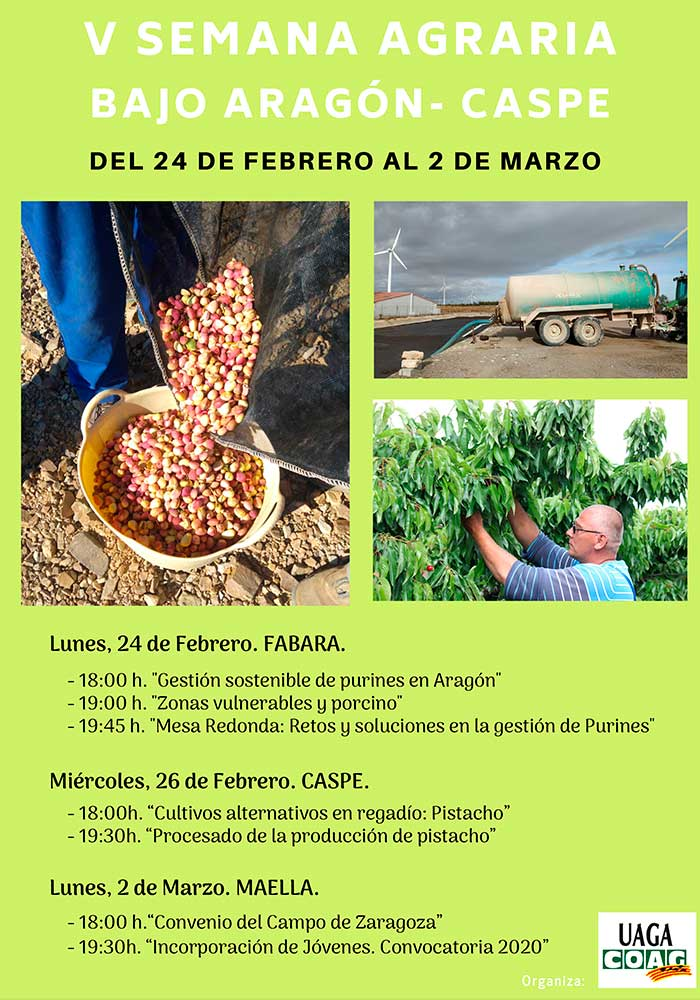 V Semana Agraria en el Bajo Aragón Caspe