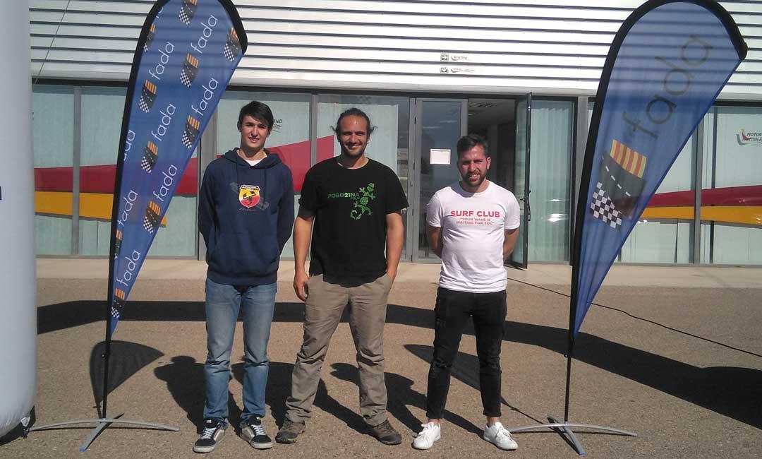 Tres zaragozanos se adjudican las becas de FADA para participar en el campeonato regional de Slalom