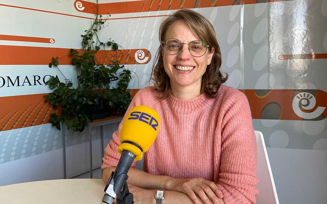 Mª Ángeles Tomás, técnico de Turismo de la Comarca Andorra-Sierra de Arcos./ A.M.