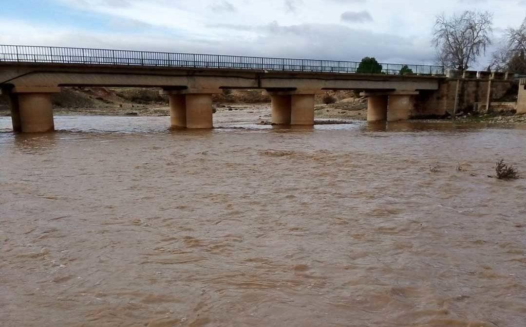 El río Aguasvivas vuelve a llenar su cauce como efecto del temporal