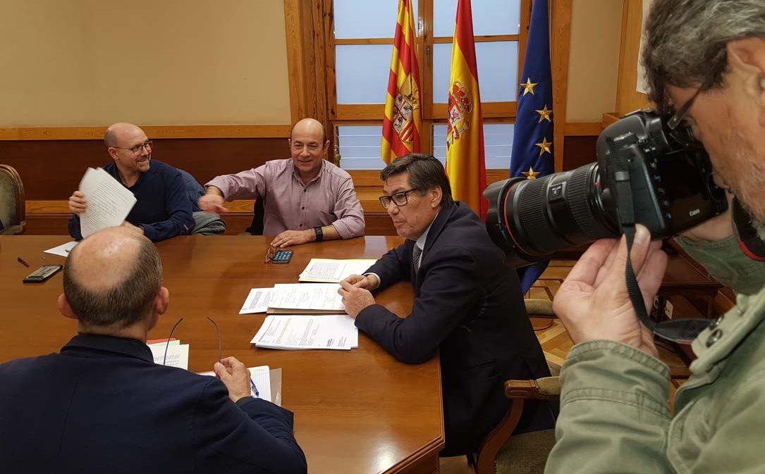 """Aliaga: """"El objetivo de DGA  es que no se pierda ni un sólo empleo en Andorra-Sierra de Arcos derivado del cierre de la central"""""""