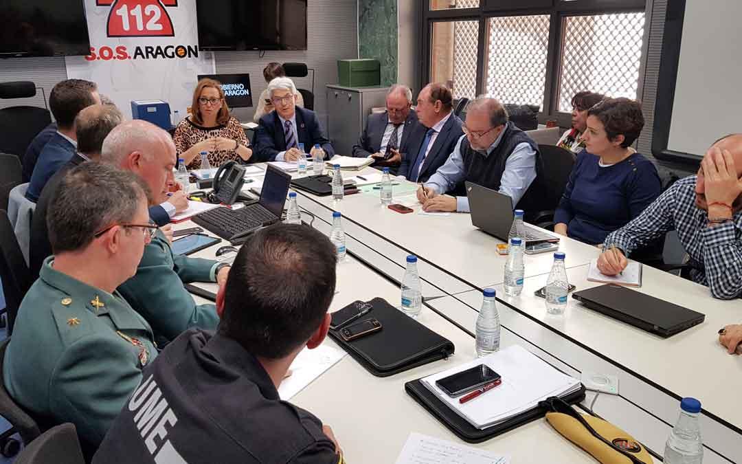 Imagen de la reunión de este martes en Zaragoza. DGA