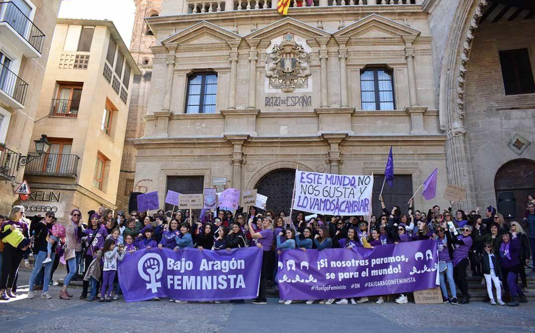 La lucha feminista se hace más visible el 8-M en el Bajo Aragón Histórico