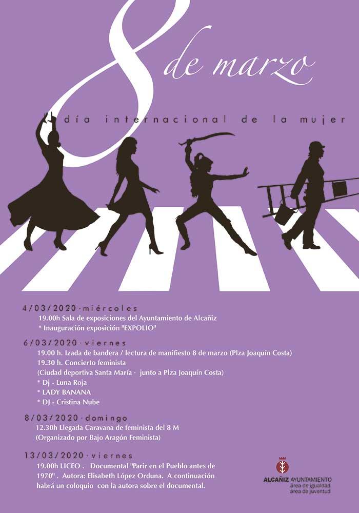 8M en Alcañiz. Día internacional de la mujer