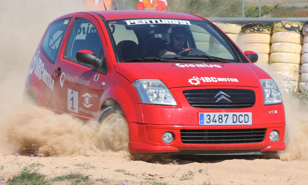 Alberto Gámiz a los mandos de un Citroën C2 se ha impuesto en el IX Slalom Mixto Motorland