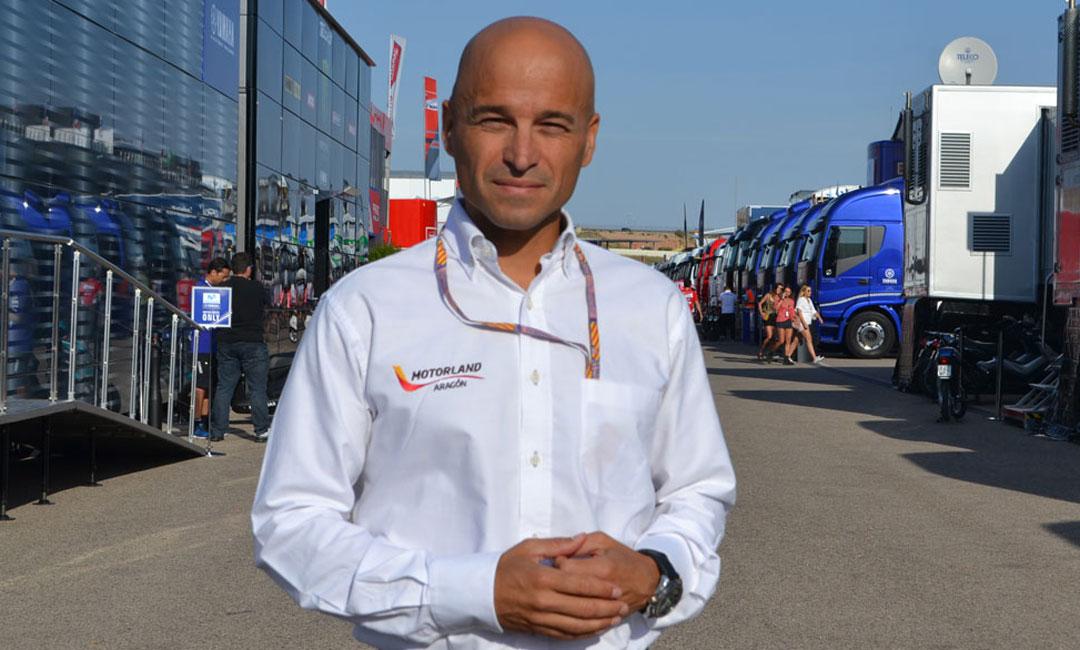 Santiago Abad, gerente de Motorland Aragón