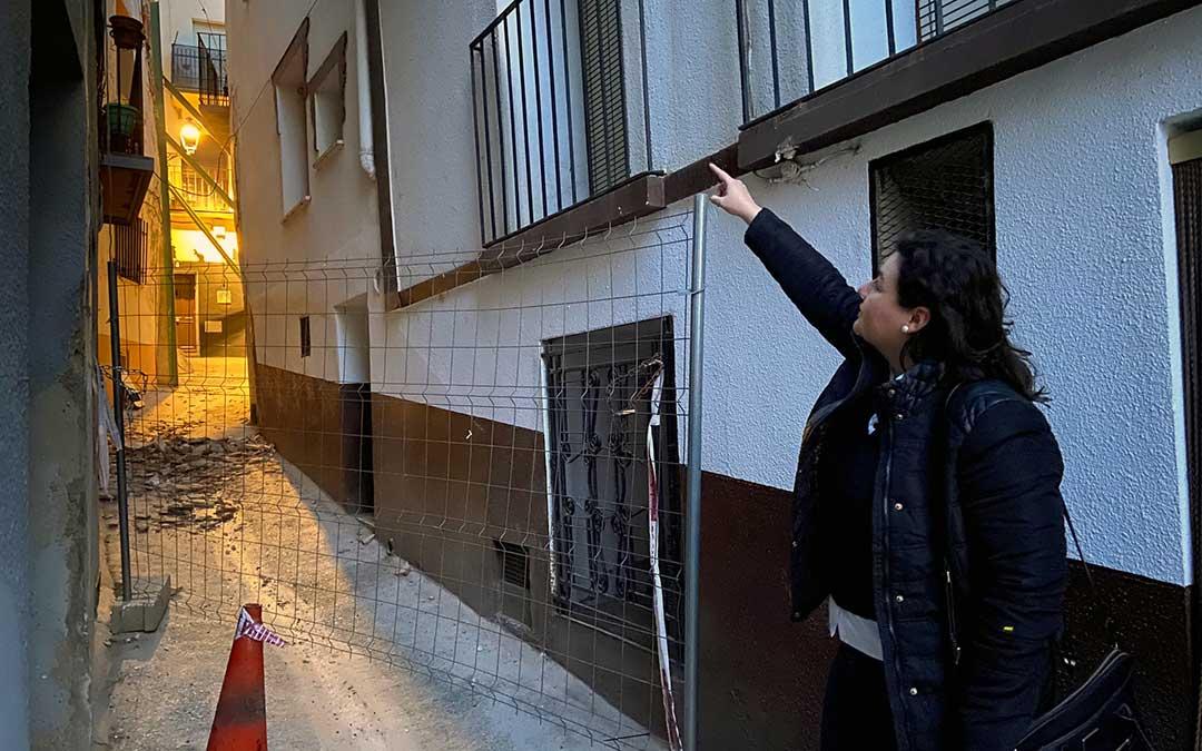 Isabel Arnas, alcaldesa de Albalate, a las puertas del Cantón Curto este mismo miércoles./ A.M.