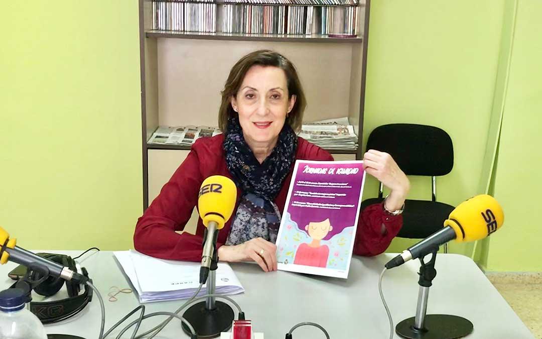 Alicia Claveria es concejal delegada de Mujer e Igualdad de Caspe.