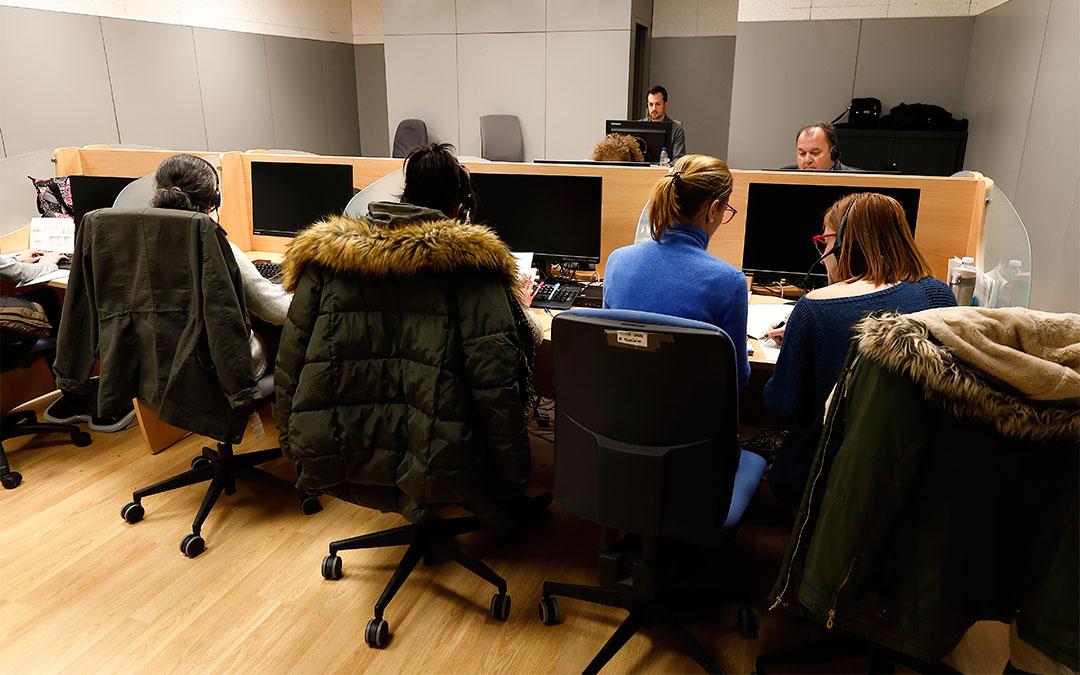 El equipo de trabajo del IASS se ha dotado de 52 técnicos teleoperadores./ DGA