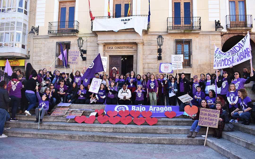 El territorio bajoaragonés sale a la calle en el Día de la Mujer para reivindicar igualdad