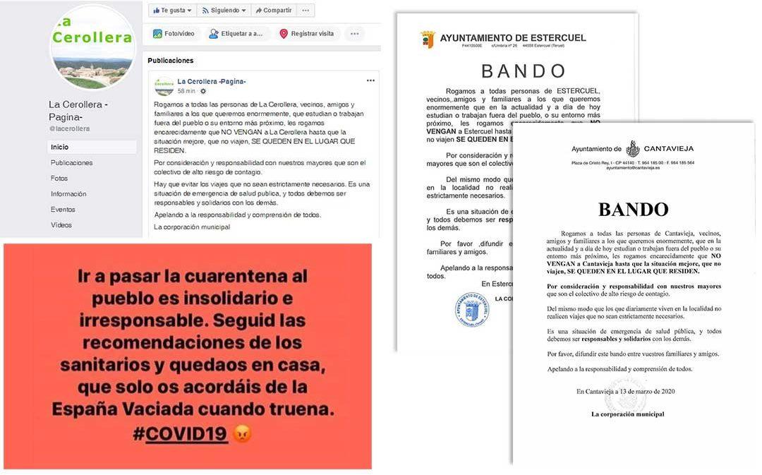 Bando de la España Vaciada por el coronavirus: 'Les queremos enormemente pero no vengan a pasar la cuarentena'