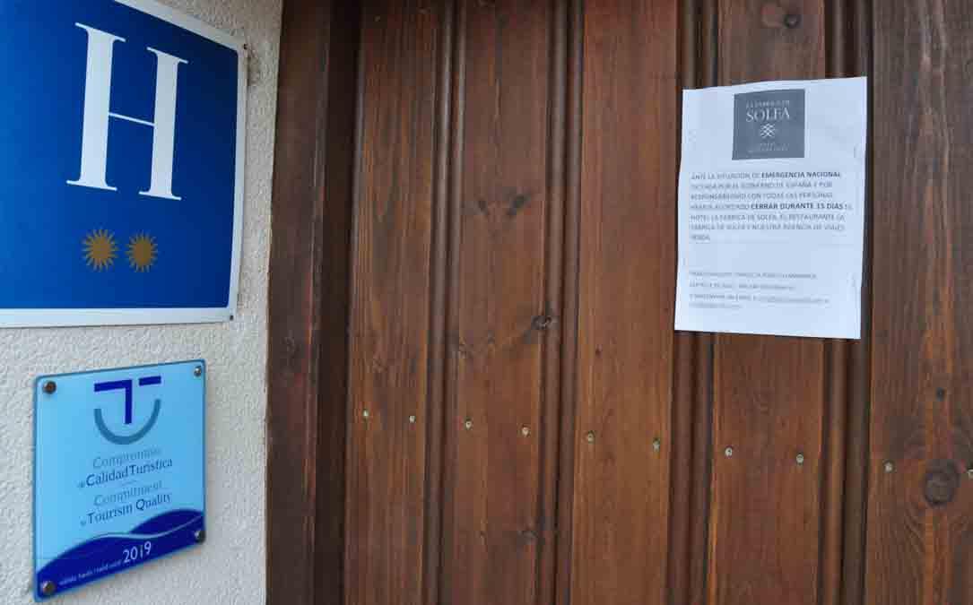 Un establecimiento cerrado de la comarca del Matarraña
