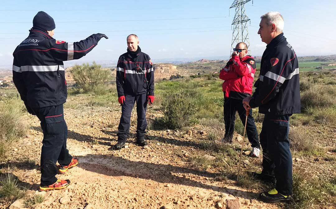 Los bomberos de DPZ se unen a las labores de búsqueda de la vecina de Caspe