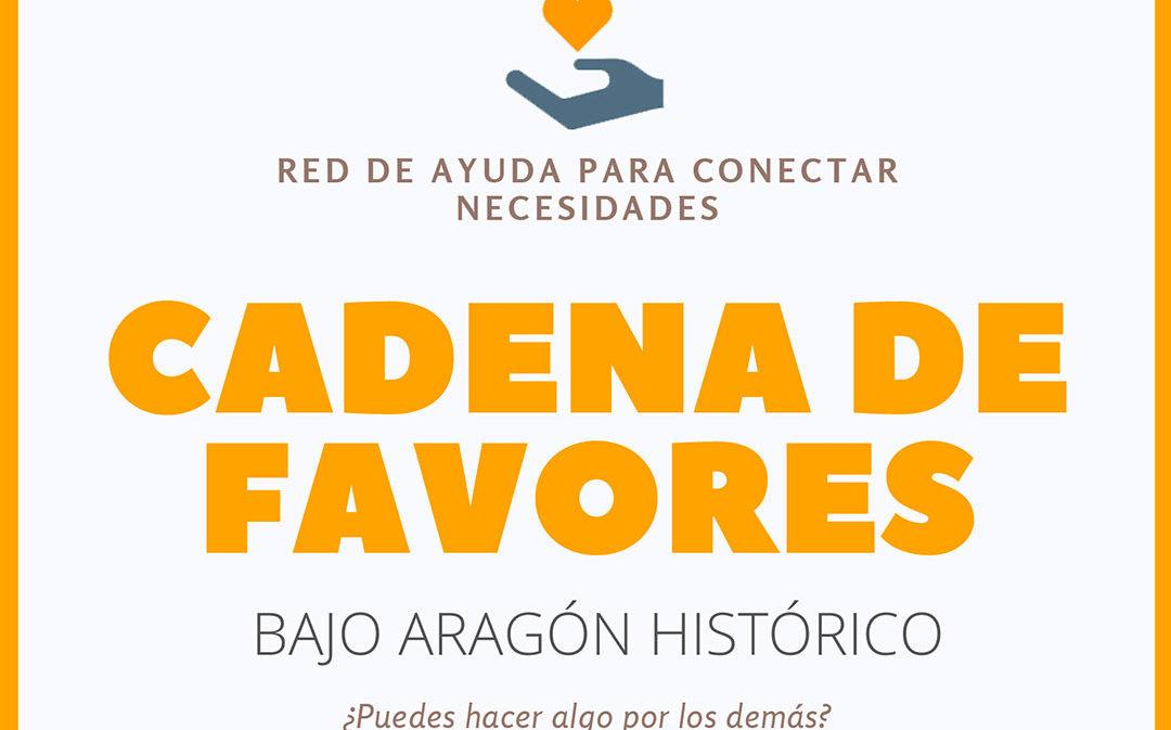 La crisis del Coronavirus desata una 'Cadena de favores' en el Bajo Aragón Histórico