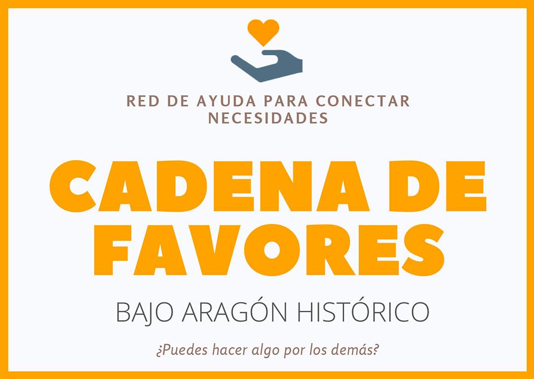Cadena de favores en el Bajo Aragón Histórico