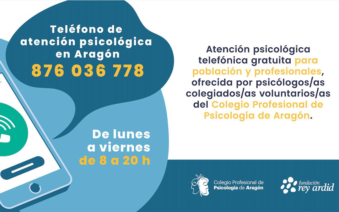 Teléfono de atención psicológica en Aragón./ DGA