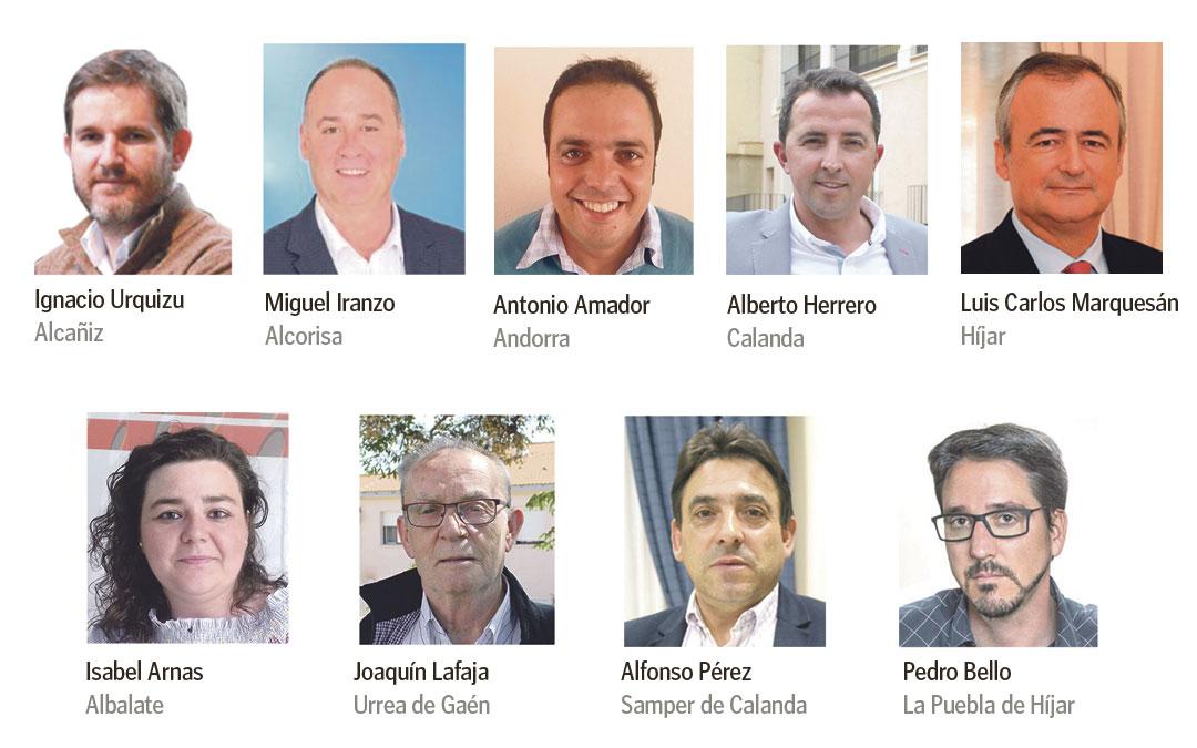 Los 9 alcaldes de la Ruta del Tambor y Bombo./ L.C.