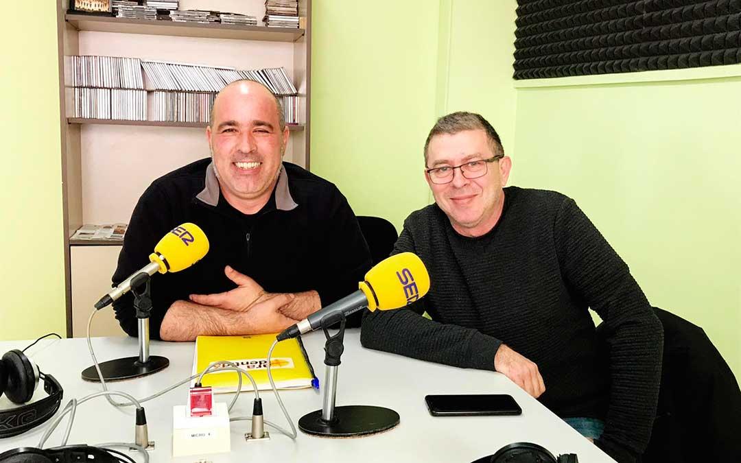 Rafael Guardia y Rafael Lumbreras, de CHA Caspe.