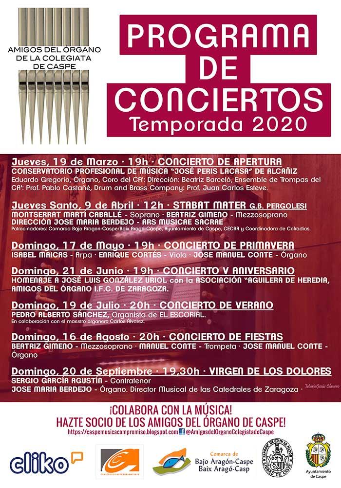Actividades del Conservatorio de Alcañiz en marzo