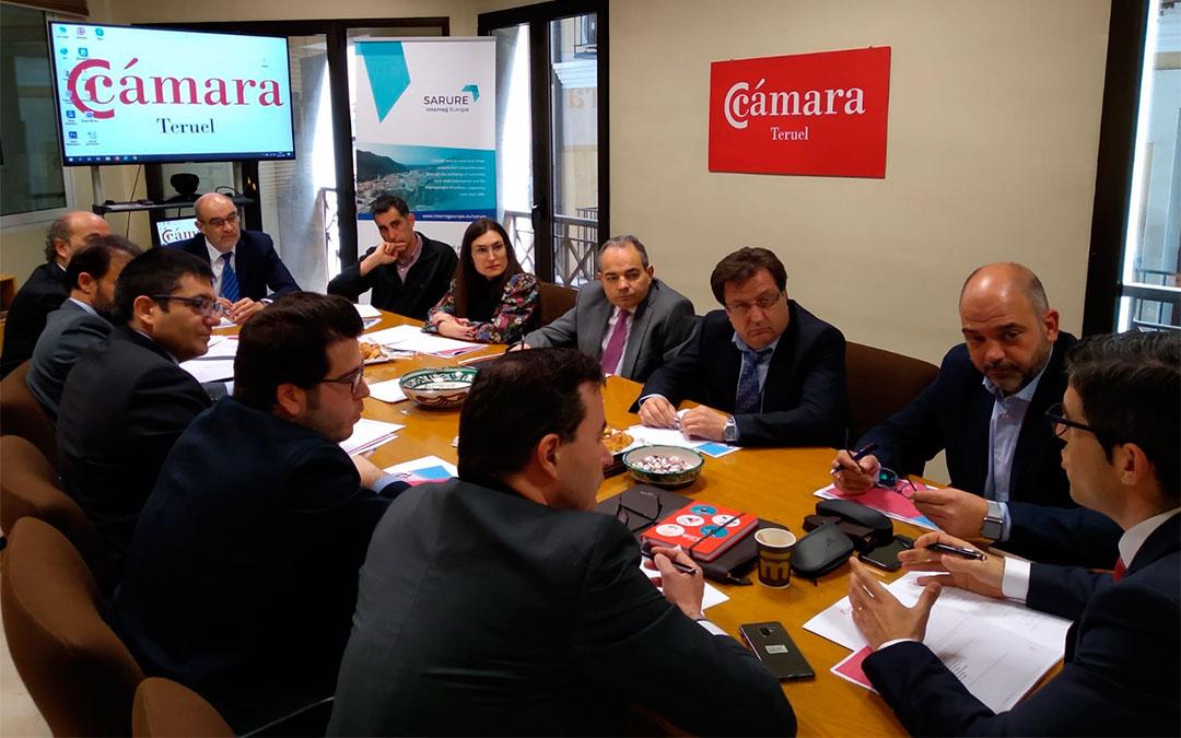 Constitución de la Comisión Económica de la Cámara de Teruel./ Cámara de Teruel