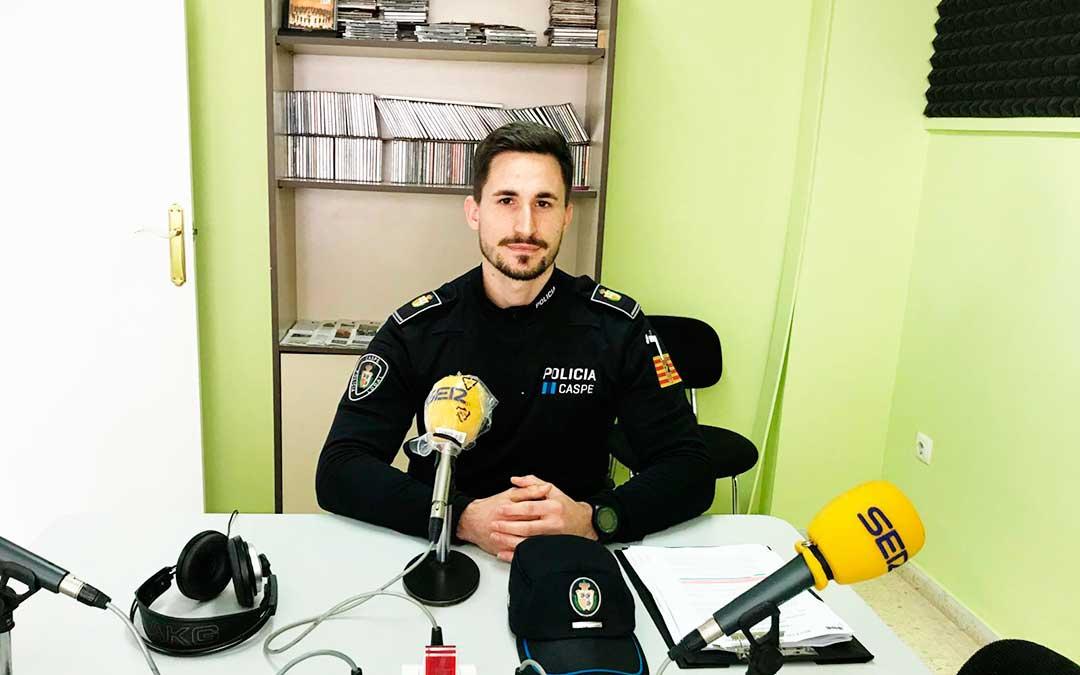 El jefe de la policía local de Caspe es Cristian Villacampa.