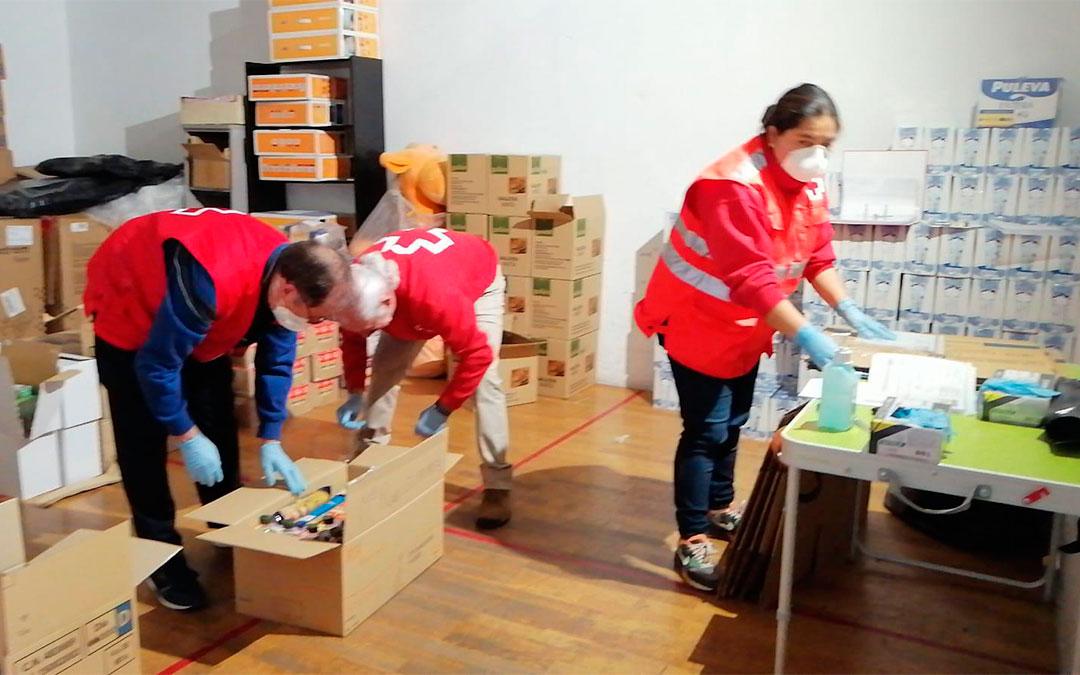 Cruz Roja Teruel atiende a las personas más vulnerables durante la crisis del coronavirus./ Cruz Roja