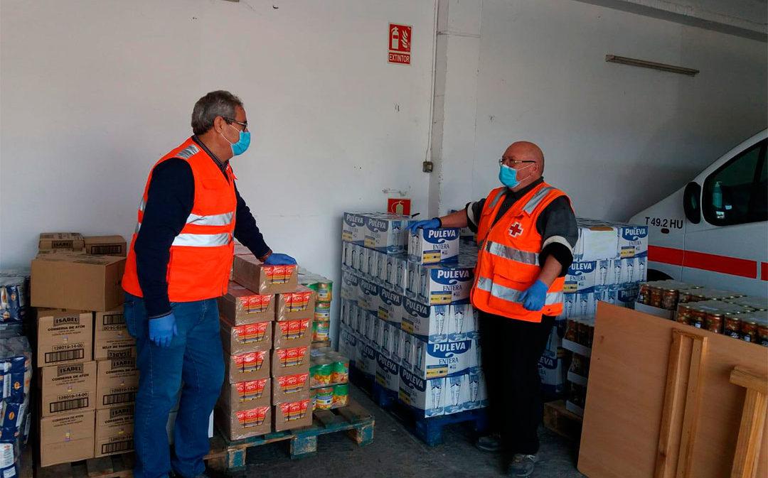 Cruz Roja atiende a más de 100 familias en Teruel ante la situación de aislamiento