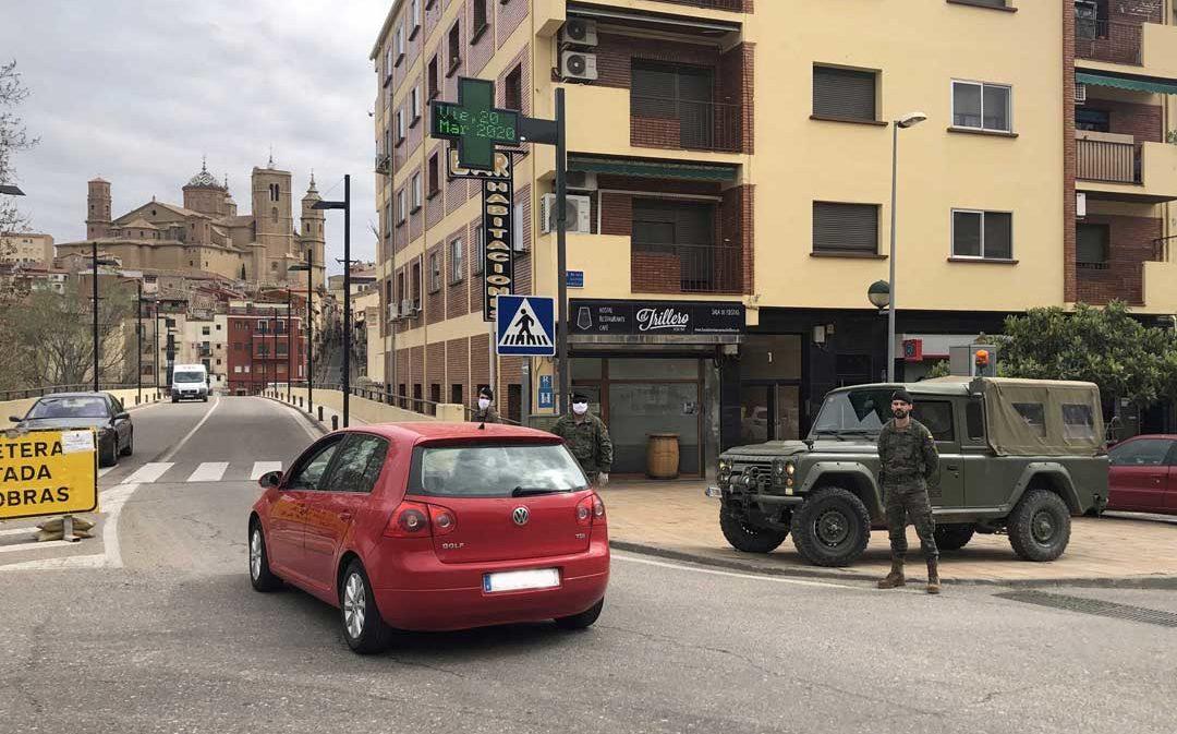 El ejército se despliega en Alcañiz y Caspe para garantizar el confinamiento por el coronavirus