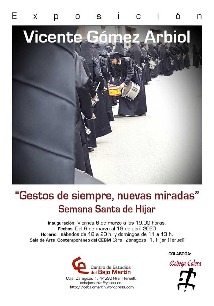 """Exposición """"Gestos de siempre, nuevas miradas"""" de Vicente Gómez Arbiol en Híjar"""