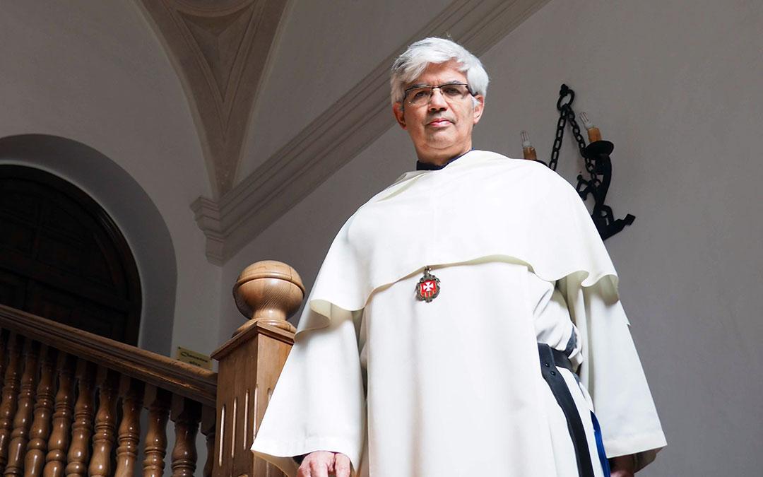El padre superior del Monasterio del Olivar, Fernando Ruiz, en las instalaciones de Estercuel./ Monasterio del Olivar
