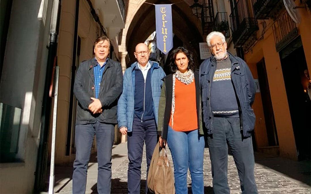 El diputado Tomás Guitarte se reúne con los secretarios generales de COO Aragón y Teruel./ Teruel Existe