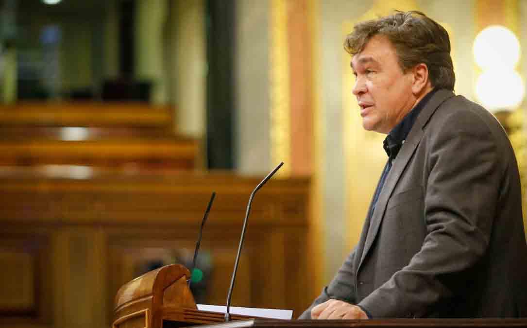 Tomás Guitarte este miércoles en el Congreso sobre el coronavirus