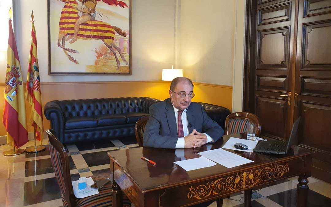 Lambán este jueves en una entrevista en Aragón Televisión / DGA