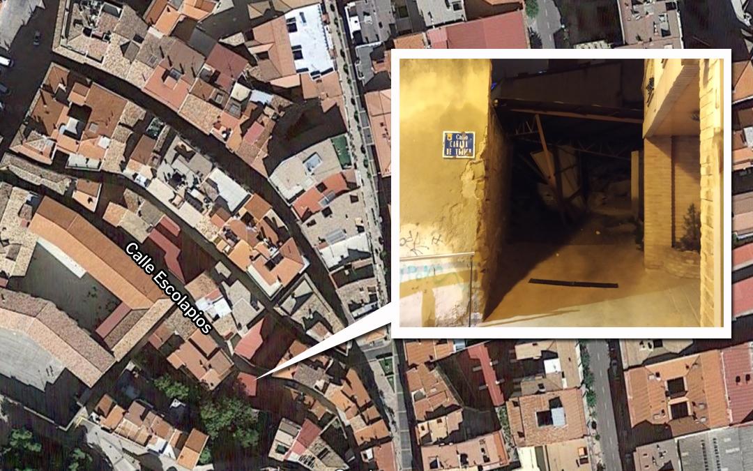 localizador derrumbe garaje calle escolapios alcañiz