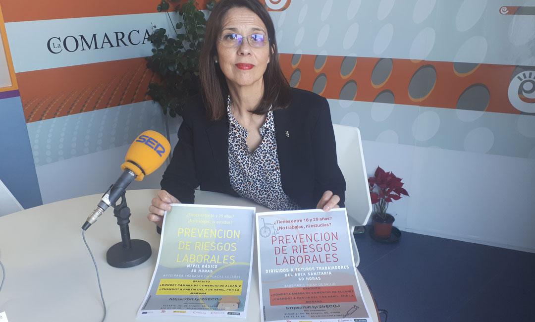 Guadalupe Martínez de la Cámara de Comercio en el espacio semanal de esta institución