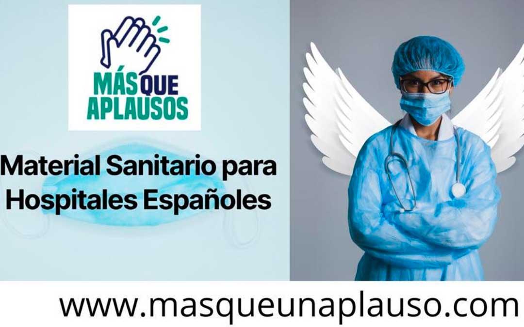 Cartel de la plataforma 'Más que aplausos'.