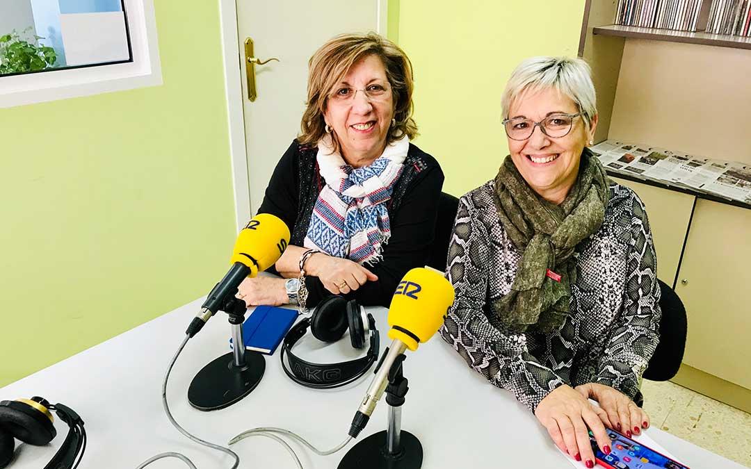 Mari Bondía y Pilar Herrero, de la Mujer Caspolina.