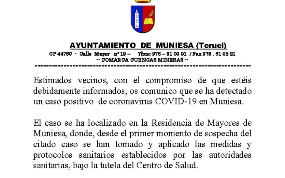 Bando del Ayuntamiento de Muniesa