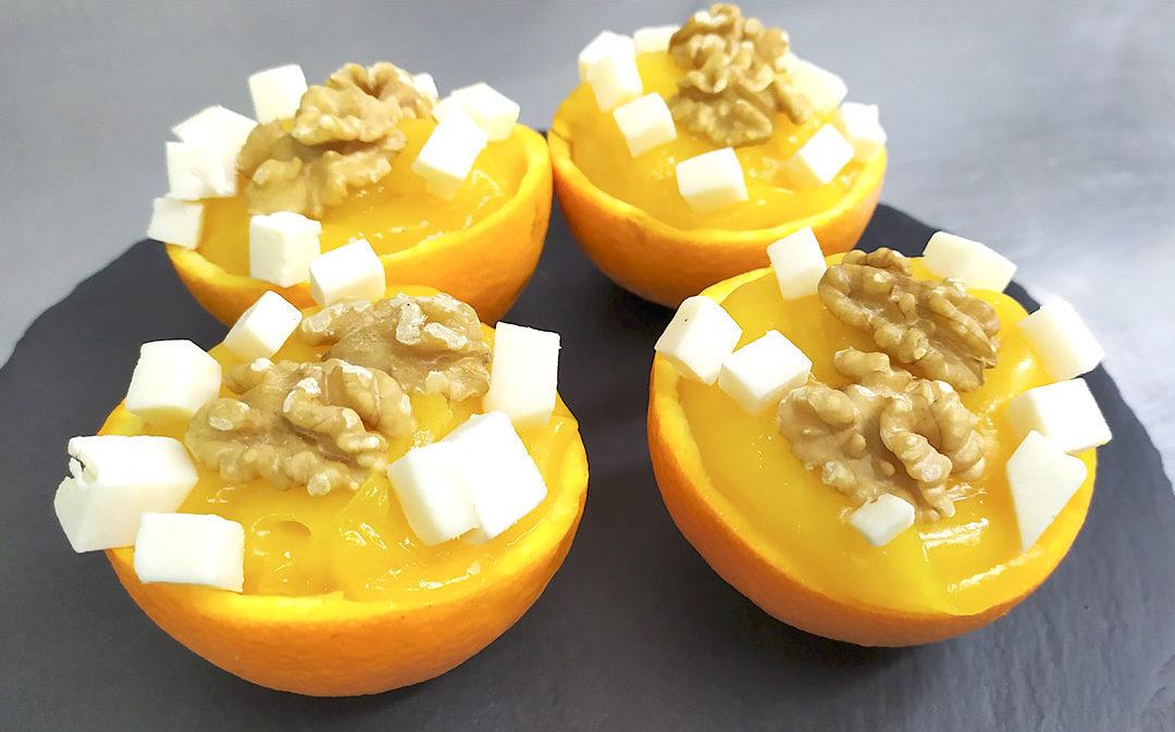 Naranjas rellenas con nueces y queso Zambomba